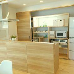 キッチンカウンター/キッチン収納/整理収納/パイン材の床/北欧/ナチュラルモダン…などのインテリア実例 - 2015-05-16 16:41:37 | RoomClip(ルームクリップ)