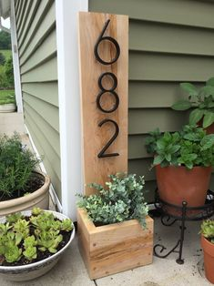 Love this custom planter for outside of your home! ❤ - etsy home decor - home decor ideas - vermont homestead -vermont home plans - vermont home decor - planter boxes - planter ideas outdoor - outdoor decor ideas - outdoor decorations - Decoration Entree, Diy Casa, Porch Decorating, Planters, Planter Ideas, Planter Boxes, My Dream Home, Home Projects, Home Remodeling