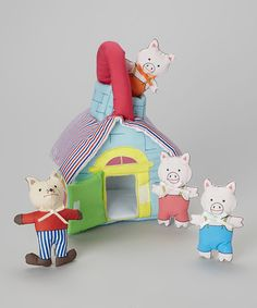 three Little Pigs Playhouse Set by Rosalina