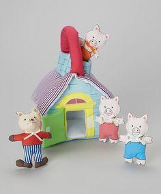 three Little Pigs Playhouse Set by Rosalina