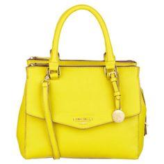 Fiorelli Mia Mini Bowler Bag ($71) ❤ liked on Polyvore featuring bags, handbags, bolsas, hand bags, bowler handbag, yellow purse, yellow hand bags and mini handbags