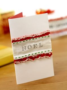 Forget diamonds, ribbons are a girl's best friend - they make it super-easy to craft stylish Christmas cards