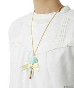 Lollipop Ribbon Chocolat Necklace(MIGR)