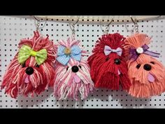 Photos From Articles - Diy Crafts Diy Crafts Knitting, Dog Crafts, Yarn Crafts, Diy Crafts For Kids, Crochet Projects, Pom Pom Puppies, Pom Pom Animals, Diy Crafts Vintage, Pom Pom Crafts