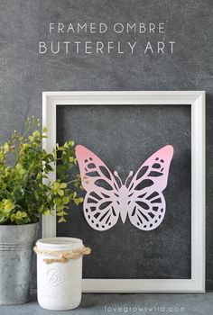 Framed Ombre Butterf