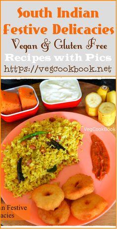 Hanuman Jayanthi Bhojanam/ Festive Platter - VegCookBook by Praveena Vegetarian Rice Recipes, Vegan Food, Vegan Recipes, Food Collage, Indian Food Recipes, Ethnic Recipes, Indian Kitchen, Fusion Food, Garlic Recipes
