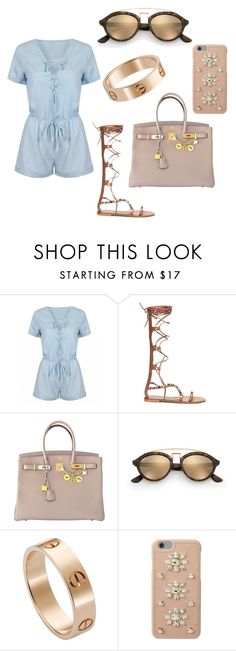 """""""summer outfit"""" by fashionblogger2122 on Polyvore featuring Hermès, Ray-Ban, Cartier and MICHAEL Michael Kors"""