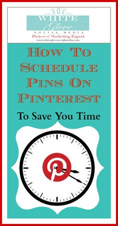 You can't be glued to your computer all day! Here's How To Schedule Pins On Pinterest To Save You Time! #PinterestCoach shares 6 #PinterestSchedulingTools - check it out here http://www.whiteglovesocialmedia.com/how-to-schedule-pins-on-pinterest-to-save-you-time/✭Pinterest Consultant Vancouver✭ #PinterestMarketingExpert