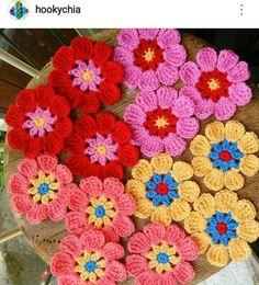 Flores em crochê.
