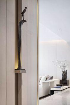 Altar Design, Niche Design, Wall Design, Foyer Design, Lobby Interior, Living Room Interior, Qingdao, Home Room Design, Living Room Designs