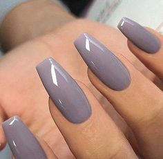 Pin by Lisa Firle on Nageldesign - Nail Art - Nagellack - Nail Polish - Nailart - Nails in 2020 Purple Nails, Gold Nails, My Nails, Stiletto Nails, Glitter Nails, Matte Nails, Grey Acrylic Nails, Gray Nail Polish, Acrylic Nails For Fall