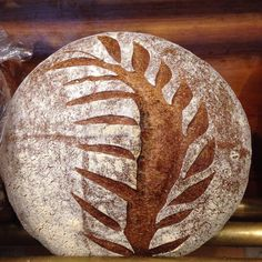 #miche is such a beautiful bread! And it's so delicious- a country sourdough made with whole wheat and rye flour with a sourdough starter! #atlanticbakingco #artisanbread #wholewheat #rye #sourdough #BBGA