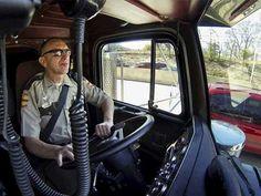 LIKE Progressive Truck Driving School: www.facebook.com/... #trucking #truck #driver  Photo: Trooper patrols in 18 wheeler to catch texters