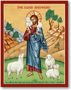 Shop Monastery Icons today for holy cards featuring icons of Christ such as these Good Shepherd Holy Cards. Life Of Christ, Christ The King, In Christ Alone, Good Shepard, The Good Shepherd, Religious Icons, Religious Art, Religious Paintings, Religious Education