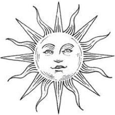 Disegno per tattoo sole