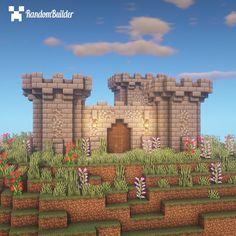 Minecraft Castle Walls, Minecraft Medieval Castle, Minecraft Castle Blueprints, Minecraft Plans, Minecraft Tutorial, Minecraft Projects, Minecraft Building Guide, Minecraft Bedroom, Lego Minecraft