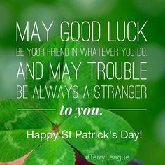 """May good luck be yo"