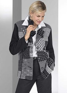 Patchwork Jacket Style Cardigan from Witt