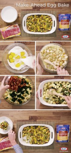 Make Ahead Egg Bake – Discover the magic of combining spinach, cheese, and bacon in this Make-Ahead Egg Bake. This breakfast recipe is great for meal prep or a weekend brunch. Did we mention that this dish is ready for the oven in 20 minutes?!