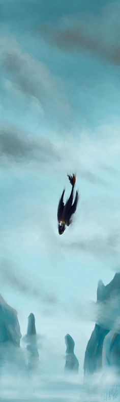 Skydive by Cloudghost ...   How to train your dragon, toothless, hiccup, night fury, dragon, viking