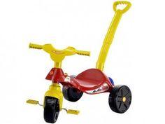Triciclo Infantil com Empurrador Biemme - Smile Bombeiro com as melhores condições você encontra no Magazine Siarra. Confira!