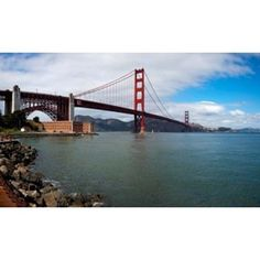 Golden Gate Bridge viewed from Marine Drive at Fort Point Historic Site San Francisco Bay San Francisco California USA Canvas Art - Panoramic Images (36 x 22)