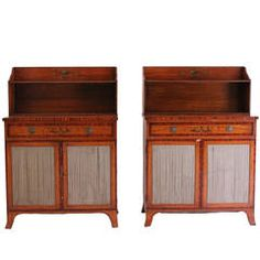 Satinwood Cabinets, Pair
