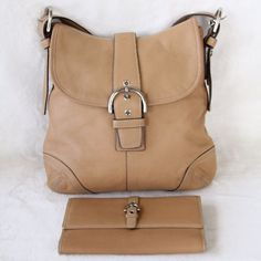 Hp Beige Coach Purse And Wallet Bundle