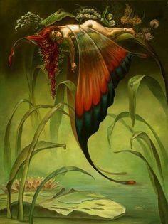 Sleeping fairy!!! Bebe'!!! Asleep on a lilly pad in the garden!!! #Hada #Fée #Fairy