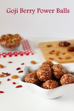 How to make Goji Berry-Almond-Date Power Balls, All natural goji berry balls,