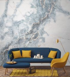 Deep Blue Clouded Marble Wall Mural Create A Decadent Feature Wall In Your Home With This Marble Wallpaper A Strike Through Of Powder Blues Add Drama And Intrigue To Your Walls Pair With Darker Furnishings To Create The Perfect Living Room Space Look Wallpaper, Wallpaper Murals, Bedroom Wallpaper, Wallpaper Designs, Trendy Wallpaper, Wallpaper Ideas, Fashion Wallpaper, Quirky Wallpaper, Aqua Wallpaper