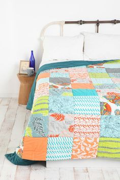 Quilt from Urban Outfitters. Love it! I feel like I could totally recreate this...