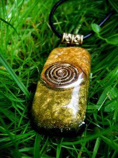Black Toumaline Orgonite Pendant Talisman  - EMF Protection and Energy Healing Jewelry