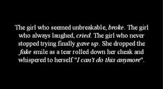 #The girl #life #quote #broken