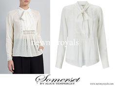 Somerset by Alice Temperley Spot Pretty Blouse - Kate Middleton