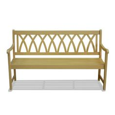 Wood Bench Yellow now featured on Fab.