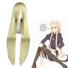 Axis Powers Hetalia Natalia Arlovskaya Light Blonde Cosplay Wig