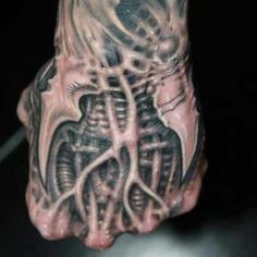 Biomechanical Hand Tattoo