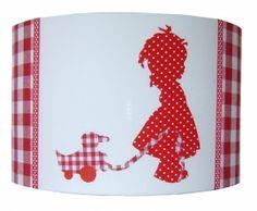 Lampenkap SP meisje eend rood stip