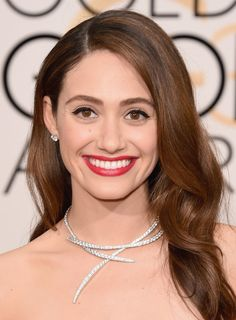 Emmy Rossum in Van Cleef & Arpels This Is How the Stars at the Golden Globes REALLY Get Their Looks to Glow