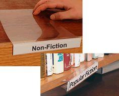 CHURCH LIBRARY: Shelf Label Holder