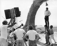 Sergio Leone on the set of Once upon a time in the west