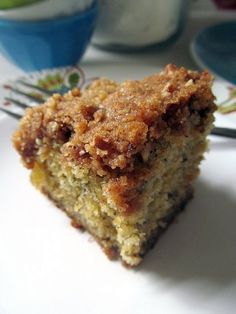 Banana Breakfast Coffee Cake--The best coffee cake I have ever made. It is sooooo good right from the oven, still warm. I'm going to make it again right now.