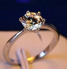 anel noivado compromisso casamento feminino prata zircônia