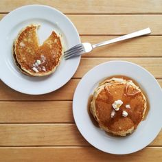 Make delicious, fluffy pancakes from scratch. This recipe uses 7 ingredients you probably already have. Breakfast Tacos, Breakfast Pancakes, Breakfast Items, Pancakes And Waffles, Sweet Breakfast, Breakfast Dishes, Breakfast Casserole, Breakfast Recipes, Fluffy Pancakes