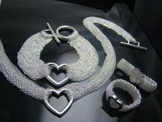 Free Shipping Wholesale Fashion Jewelry Set,925 Sterling silver Necklace and Bracelet/Earrings Set . Nice Jewelry. Good S68 $8.39