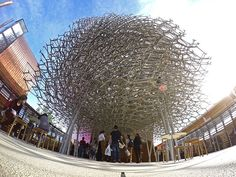 The enormous beehive structure is inspired by scientific research from bee expert Dr. Martin Bencsik