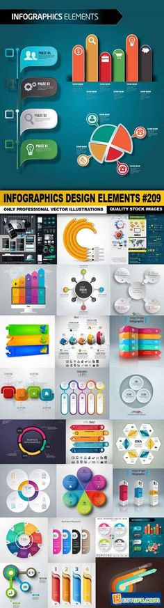 Infographic and diagram business design vector 45 | Vector ...