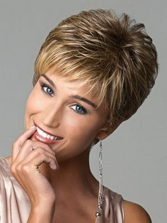 New coming 2015 highlights blonde short female haircut, puffy straight pelucas pelo natural short hair wigs for black women