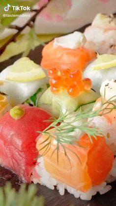 Seafood Recipes, Appetizer Recipes, Cooking Recipes, Seafood Dishes, Canapes Recipes, Cooking Tools, Sushi Roll Recipes, Cooked Sushi Recipes, Cucumber Recipes